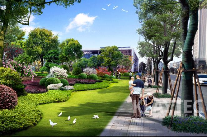 因此,下沉庭院树池的景观效果尤为重要.